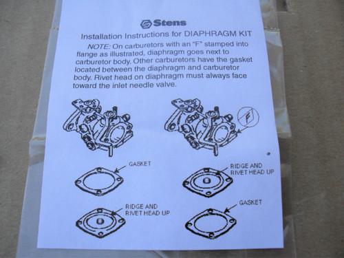 Carburetor Rebuild Kit for Tecumseh AH600, AV520, AV600, H22 to H35, HS40, LAV30, LAV40, TVS600, TVS1400, TVS1500, 630752, 630759, 630823, 630906, 630914, 630954, 630974, 630974A, 631011A, 631053, 631088, 631111, 631121, 631131 Made In USA