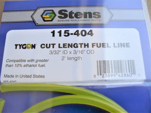 "Gas Fuel Line for Craftsman, Ryobi 791-181168, 791-181086, ID: 3/32 ""x OD: 3/16 "" x Length: 2 ', Made In USA 115-404"