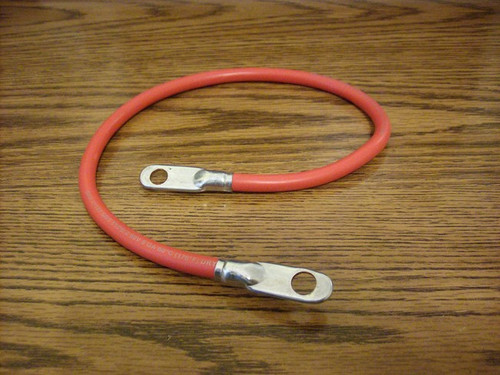 "Red Positive Battery Cable 20"" Long for Lawn Mower 425249"