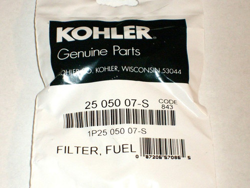 Gas fuel filter for Kohler CV11 to CV16, K181 to K341, KT17, KT19 and M8 to M20, 25 050 02, 2505002, 25 050 02-S, 2505002S, 25 050 07, 2505007, 25 050 07-S, 2505007S, 25 050 07-S1, 2505007S1