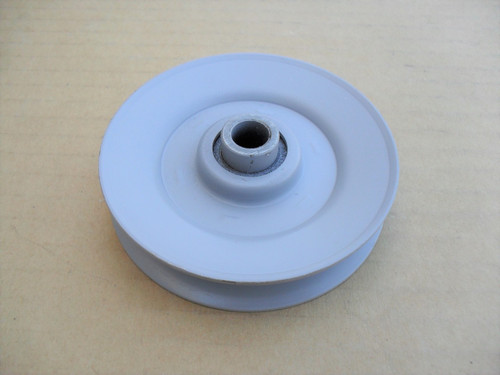 "Idler Pulley for AYP, Craftsman 110484X, 583659801, 8846R, Made In USA, Height: 5/8"" ID: 3/8"" OD: 3-1/16"""