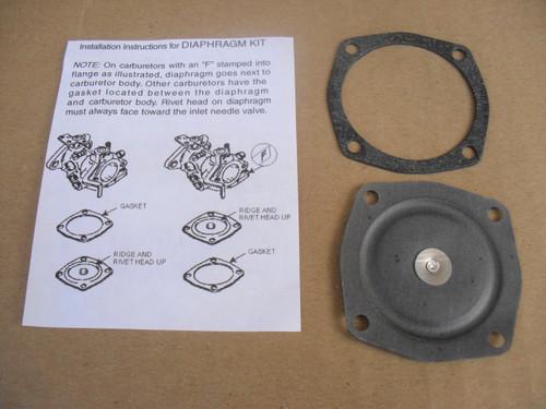 Carburetor Diaphragm Rebuild Kit for Tecumseh AV520, H30, LAV40, 1400, 1500 Jiffy Ice Auger, Lawn Edger 630978, 631069 Made In USA