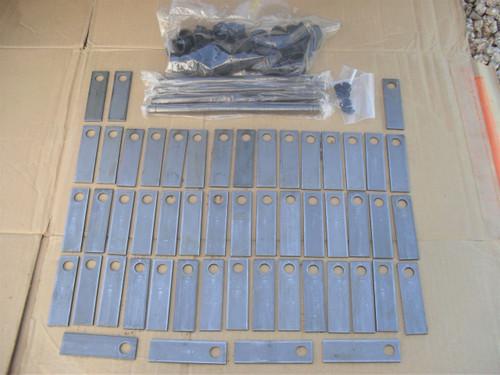 "Rebuild Kit for Bluebird P18, PR18 and PR22 Thatcher 4"" Blades, Bushings and Shafts 5001, 539005001, 5002, 5004 Blue Bird Dethatcher"