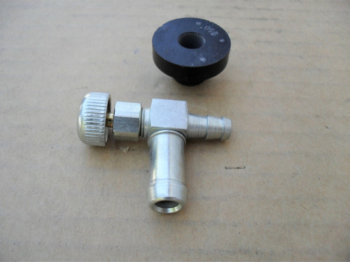 Gas Fuel Shut Off Valve with Rubber Bushing for Walker lawn mower 5083, 5083-1, Made In USA