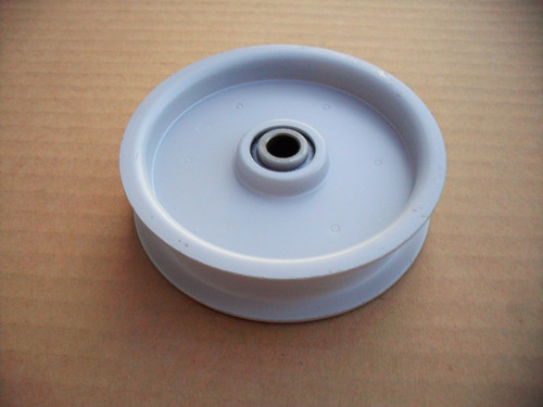 """Flat Idler Pulley for Troy Bilt 1714742, 1724488, Height: 1"""" ID: 3/8"""" OD: 3-3/4"""""""