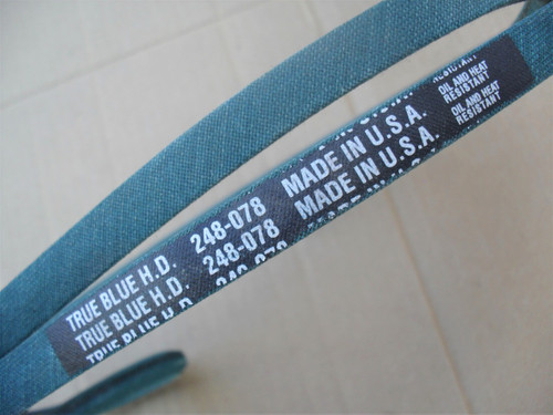 Belt for Gilson 200973, 200982, Made In USA, Oil and heat resistant, Kevlar cord