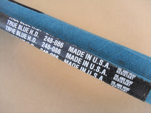 Belt for Hahn 308455, Made in USA, Kevlar cord, Oil and heat resistant
