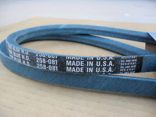 Belt for Woods 70132, Made in USA, Kevlar cord, Oil and heat resistant