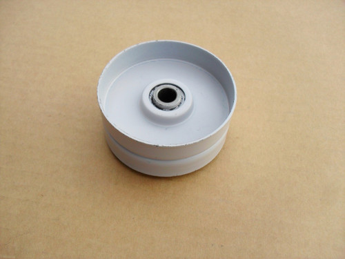 "Flat Idler Pulley for Kees 363214, 976520, Height: 1-3/16"" ID: 3/8"" OD: 2-3/4"""
