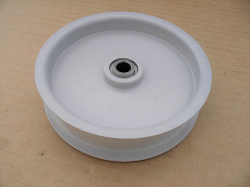 """Idler Pulley for Wright Mfg 71460006, Height: 7/8"""" ID: 3/8"""" OD: 4-3/8"""""""