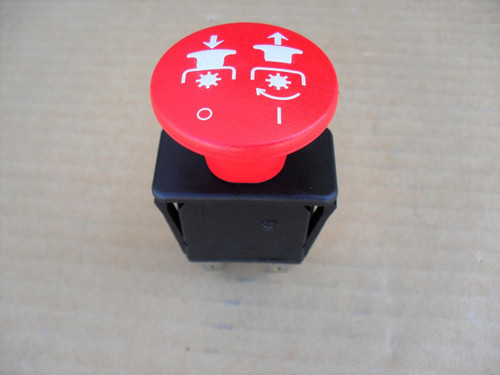 PTO Switch for Worldlawn 5208022, 5 Terminals, Made In USA, world lawn