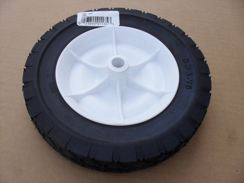 "Wheel for Noma 336556, 54446, 8"" tall x 1-3/4 wide Tire 8x1.75"