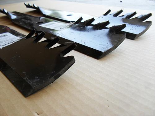 "Hi Lift Mulching Toothed Blades for Great Dane 48"" Cut, D18086, GDU10230 Made In USA, Mulcher"