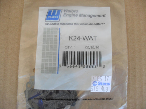 Carburetor Rebuild Kit for Walbro WT2741, WT4241, WT9731, WT-274-1, WT-424-1, WT-973-1, K24WAT, K24-WAT