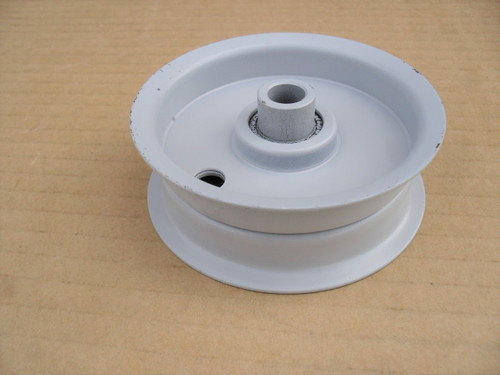 "Flat Idler Pulley for White Outdoor 756-04224, 756-0981, 756-0981A, 756-0981B, 956-0981 Made In USA, Height: 1-1/8 "" ID: 3/8 "" OD: 3-1/8 """