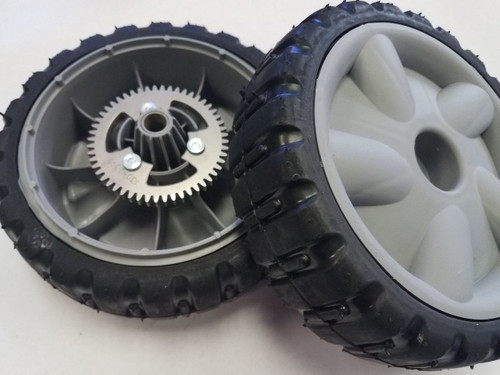 2 Self Propelled Rear Drive Wheels for Lawn Boy 1073906, 107-3906, Lawnboy insight wheel