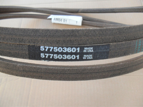"""Deck Belt for AYP 54"""" Cut, 577503601, Made In USA"""