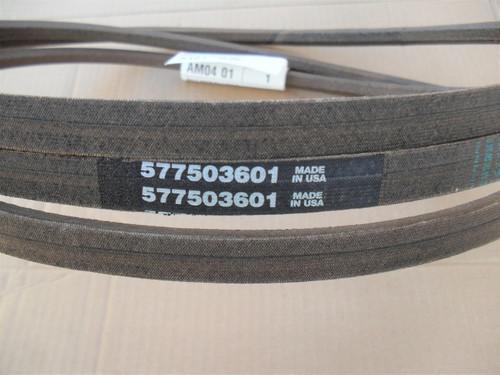 "Deck Belt for Husqvarna 54"" Cut, 577503601, Made In USA"