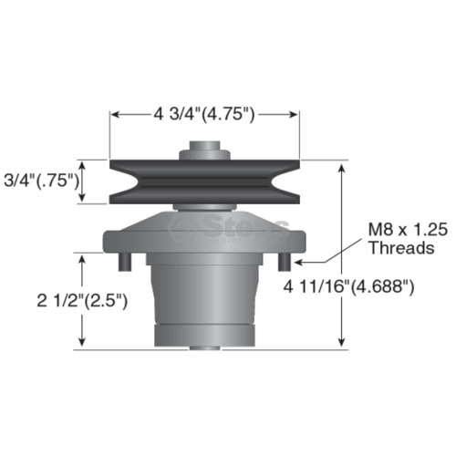 Deck Spindle for John Deere LX172, LX173, LX176, LX178, LX186 and LX188, AM108925