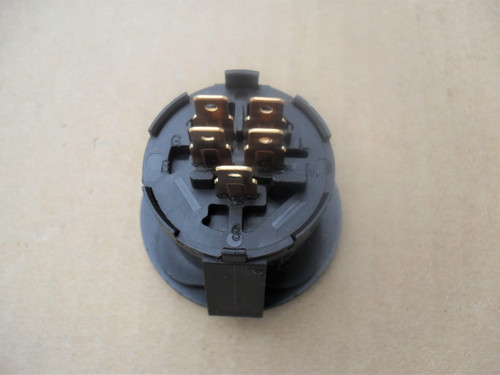 Ignition Starter Switch for Dixie Chopper 2044, 2250, 2344, 2350, 2460, 2550, 2560, 2650, 2750, 2760, 3060, 3066LP, 3074LP, 3360, 3372, 3560, LT2000, LT2200, LT2300, LT2400, LT2500, LT2700, SE2550, SE2734, SE2744, SE2750, 500017, Delta 5 Terminals, Includes Key, Made In USA