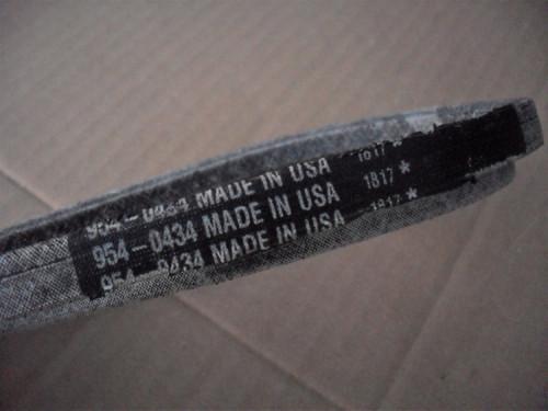 Roto Tiller Drive Belt for MTD 754-0434, 954-0434, Craftsman, Huskee, Master Cut, White, Made In USA, 15674