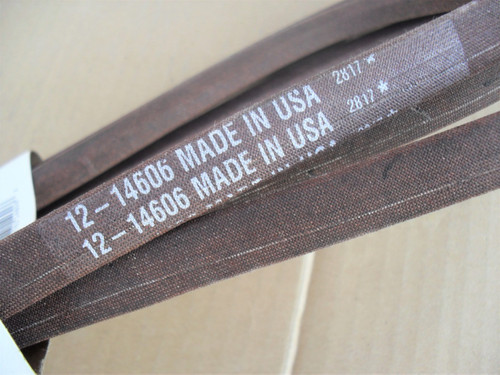 """Deck Belt for AYP, Poulan 461ZX 46"""" Cut 539117245, Made In USA"""