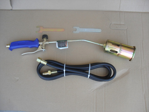 Propane Torch for Weed Control and Clear Ice from Sidewalks and Driveways, Heats to over 3000 F with Turbo Blast