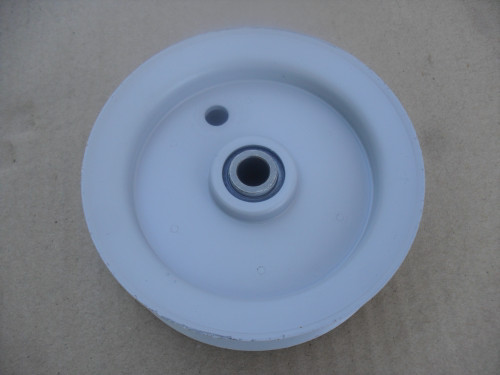 "Idler Pulley for MTD 756-0437, 756-0643A, 956-0437, 96297 Height 1-3/16"" ID 3/8"" OD 4"" Made In USA"
