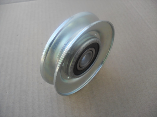 """Deck Idler Pulley for Craftsman 20613, 420613, 420613MA, 91178, 091178, Made In USA, Metal, Height: 3/4"""" ID: 1/2"""" OD: 3"""""""