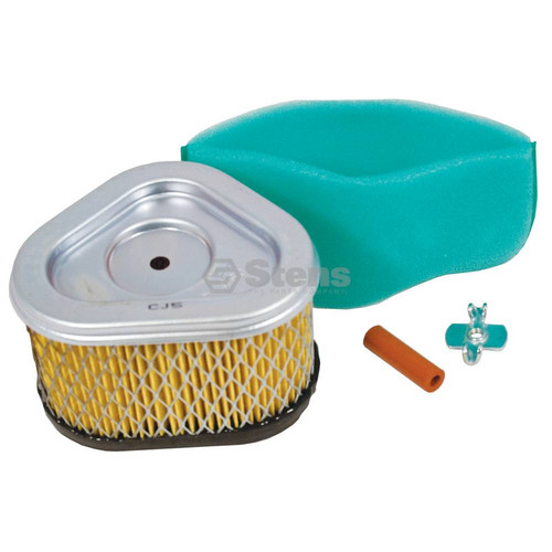 Air Filter for Kohler Command CV11 to CV16, 1208305S, 1208314, 1288305, 1288305S1, 208303, 12 083 05-S, 12 083 14, 12 883 05, 12 883 05-S1 Includes Foam Pre Cleaner Wrap, Hose, Wing Nut