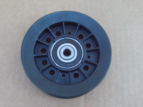 """Flat Idler Pulley for White Outdoor 1756151, ID: 3/8"""" OD: 4"""", 1-1/8"""" Made In USA"""