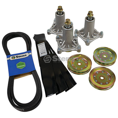 Spindle with Pulley Mulching Blade Kit Husqvarna 42 Inch Deck YTH 2042 2242 A B