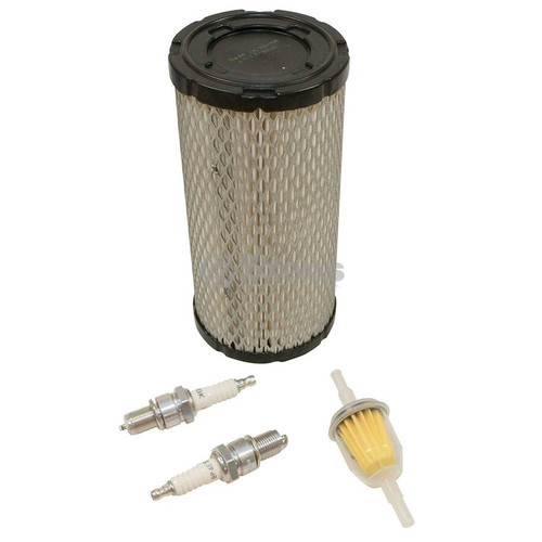Engine Maintenance Tune Up Kit for EZ GO ST350, 28463G01 with kawasaki engine, air filter, fuel filter, spark plugs