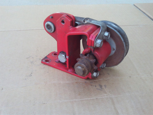 """Mclane, Craftsman Jackshaft Pulley with Chain Sprocket Gear 1053 USED Assembly, for reel tiff front throw 20"""" to 25"""" Cut lawn mower"""