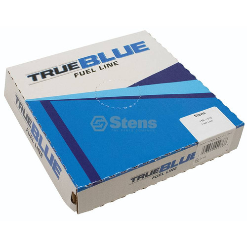 """Fuel Line ID: 1/8"""" OD: 3/16"""" 25 feet long, Translucent blue, High quality, Resists swelling and hardening, Made in USA 115-512"""