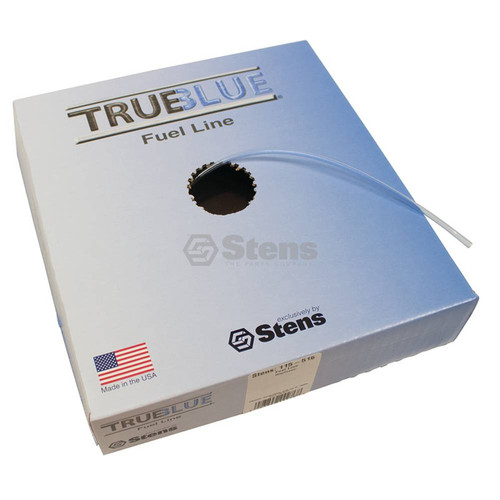 """Fuel Line ID: 1/8"""" OD: 1/4"""" 25 feet long, Translucent blue, High quality, Resists swelling and hardening, Made in USA 115-516"""