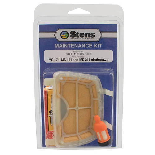 Air Filter, Spark Plug, Fuel Filter for Stihl MS171, MS181, MS211 Chainsaw Tune Up Kit 11390071800, 1139 007 1800