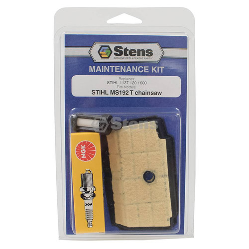 Air Filter, Spark Plug, Fuel Filter for Stihl MS192T Chainsaw Tune Up Kit 11371201600, 1137 120 1600