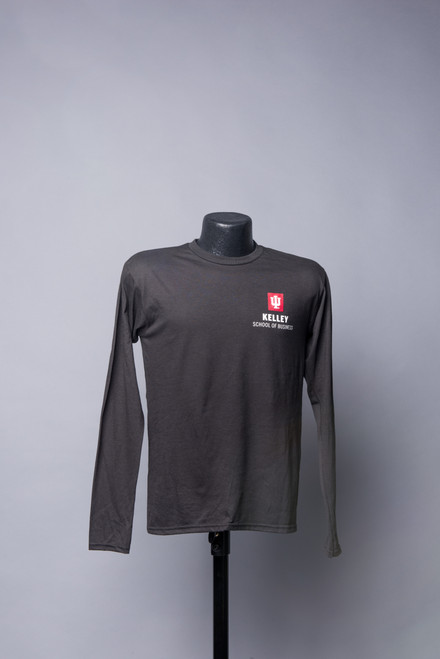 BLACK LONG SLEEVE TEE ALSO AVAILABLE IN HEATHER GREY AND RED