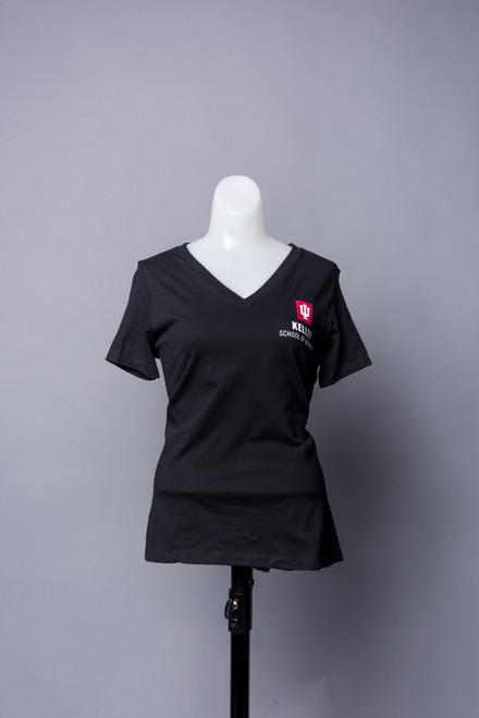 WOMEN'S CHARCOAL GREY V-NECK T-SHIRT