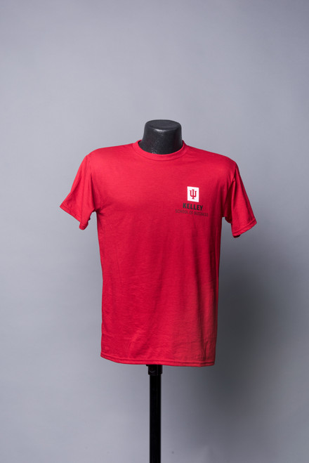 RED UNISEX SHORT SLEEVE TEE ALSO AVAILABLE IN HEATHER GREY AND BLACK