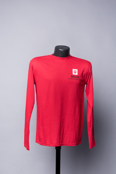RED LONG SLEEVE TEE  ALSO AVAILABLE IN HEATHER GREY AND BLACK