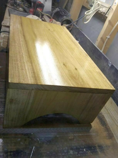 Wood Stool or Bench Seat Flower Stand