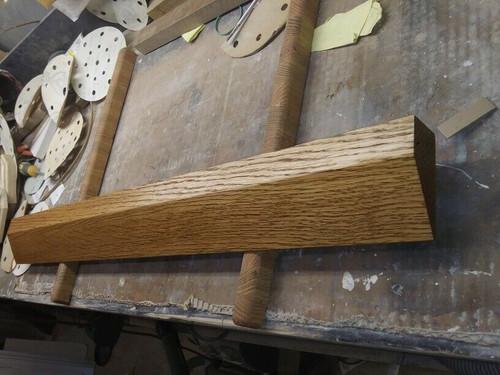 "1 3/8"" x 3"" wide Oak Wood Door Threshold Ramp Wheelchair Transition"