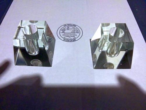 houze glass company crystal candle holders