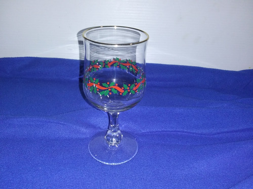 houze holiday christmas stemmed drinking glass wine tea