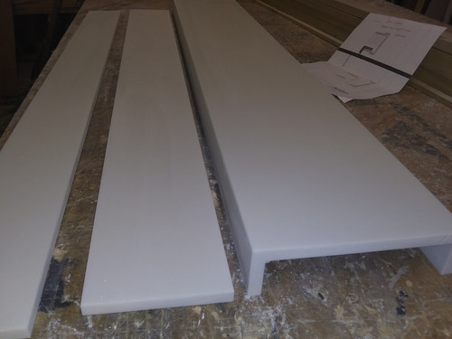 special made shower curb or sill white