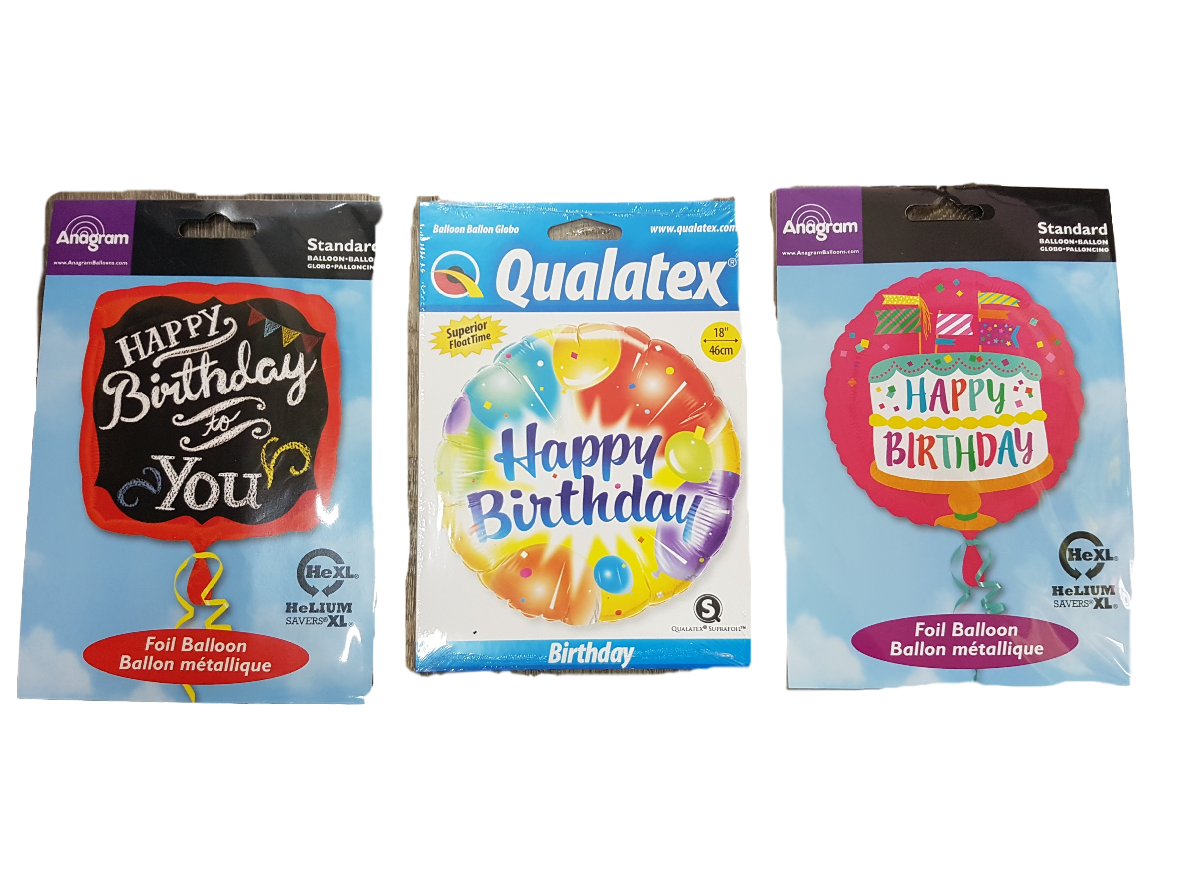 A LARGE RANGE OF HELIUM BALLOONS FOR MANY OCCASIONS.