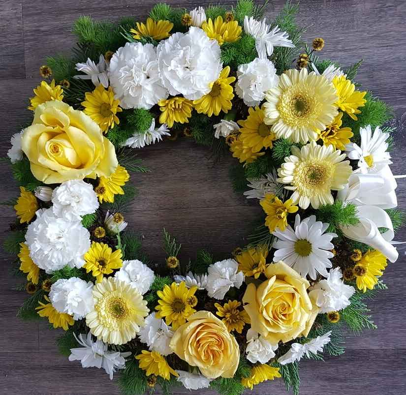 Eternity an elegant white and yellow mix of blooms