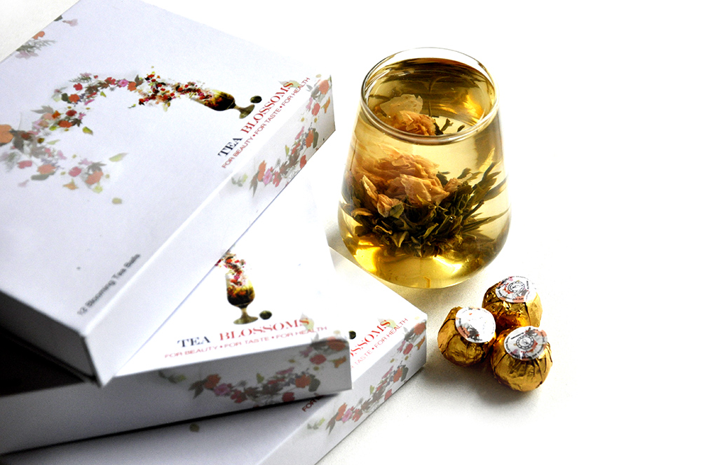 This hand selected assortment of exquisite flowering teas is sure to please. There are 12 flowering balls, a mix of 6 spectacular varieties of blossoming hand made blooming green, white and black tea balls that each magnificently come to life in your tea pot. Packed in a beautiful Gift Box it is great gift for any occasion. This sampler contains 12 flowering balls, 2 black types, 2 white types and 2 green types.